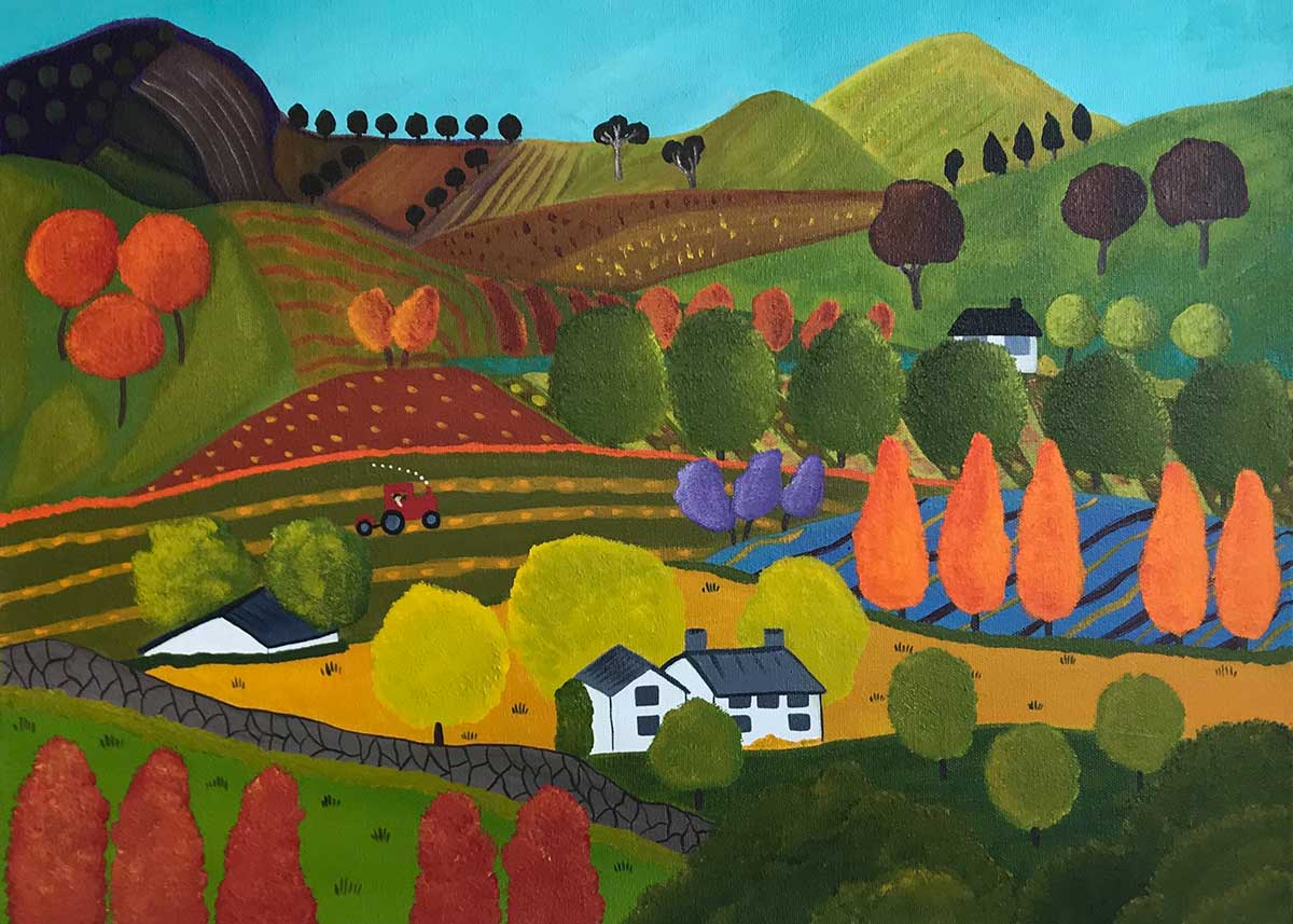 Annie Holcombe, Southern Highlands artist, Holiday Time