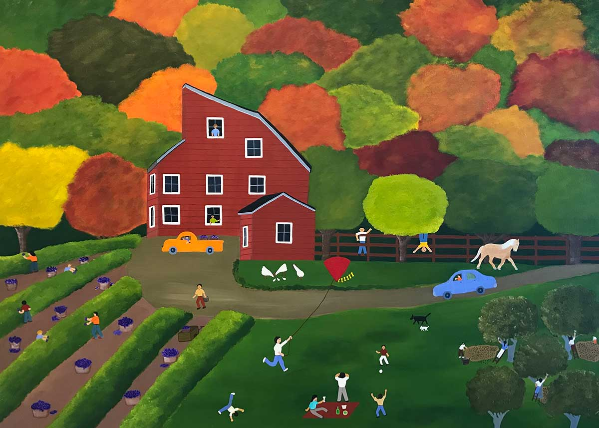 Annie Holcombe, Southern Highlands artist, The Red Barn