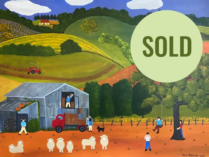 Annie Holcombe, Southern Highlands artist, Off to the Wool Markets
