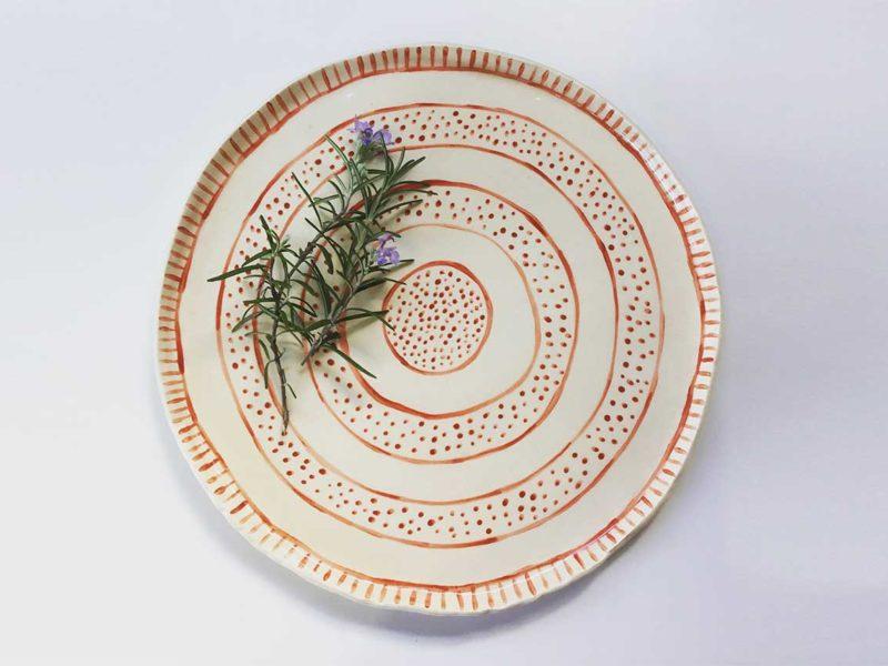 Naïve ceramic plate, Annie Holcombe, Southern Highlands artist