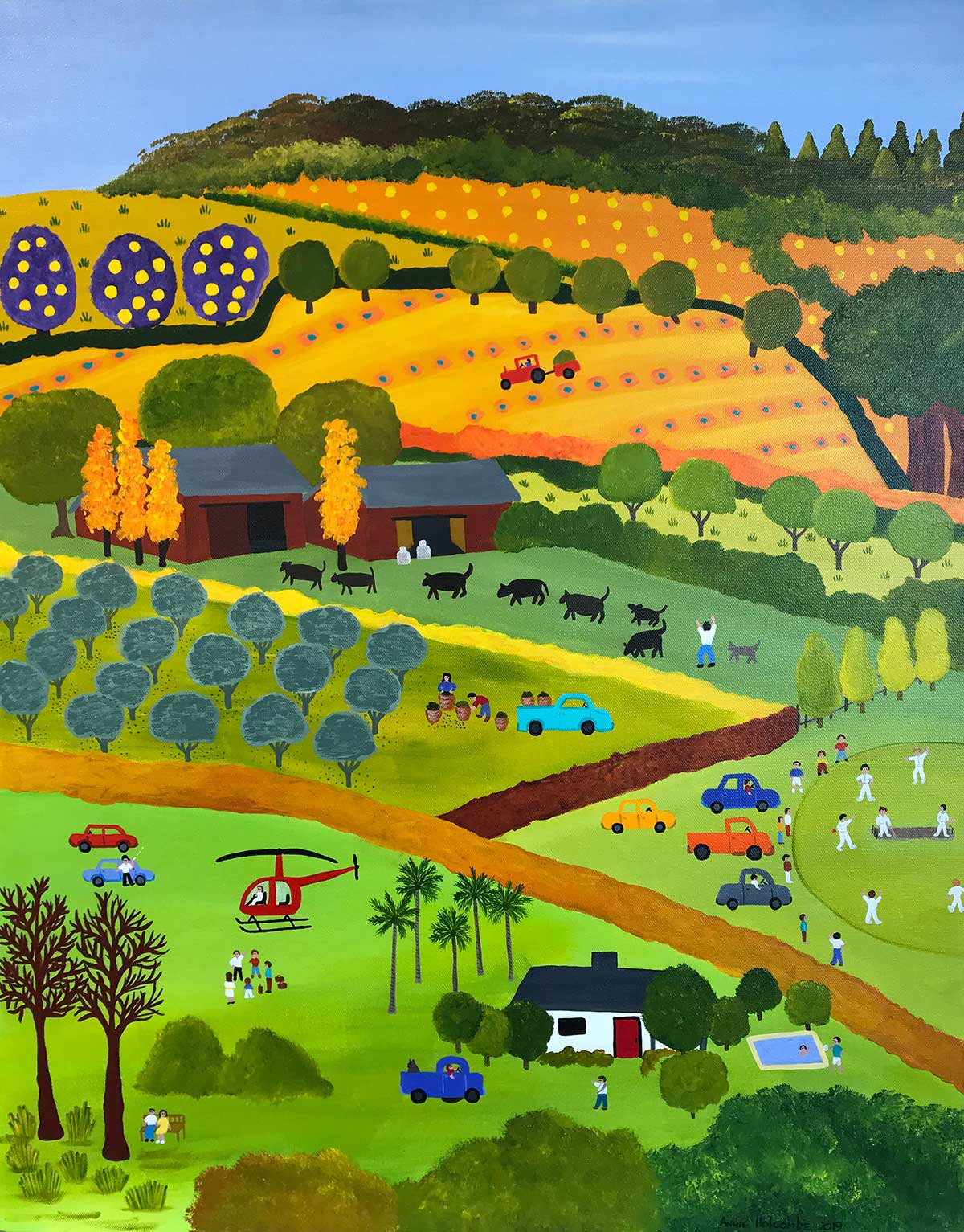 Annie Holcombe, Southern Highlands artist, Bringing in the Cows